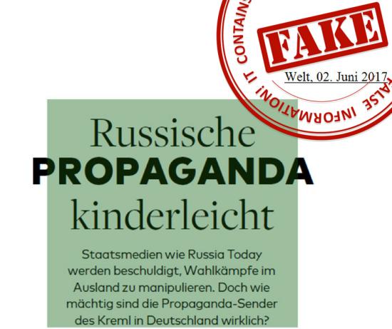 МЗС РФ огризнулося на німецьку пресу після викриття російських пропагандистів