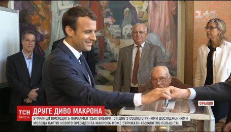 Молодая партия президента Франции может завоевать абсолютное большинство в парламенте