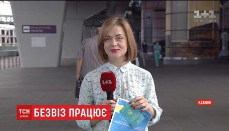 За первые сутки безвиза 1300 украинцев пересекли границу