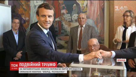 Партия Макрона победила в первом туре на парламентских выборах