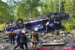 В России перевернулся автобус с паломниками - 12 человек погибли