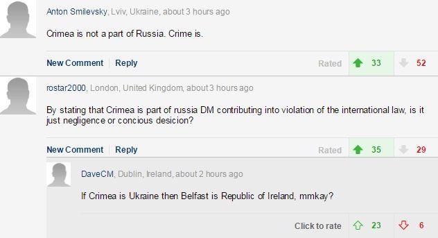 Daily Mail про Крим