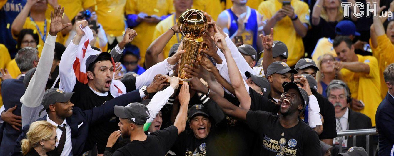 """""""Голден Стейт"""" вдруге за три роки став чемпіоном НБА"""