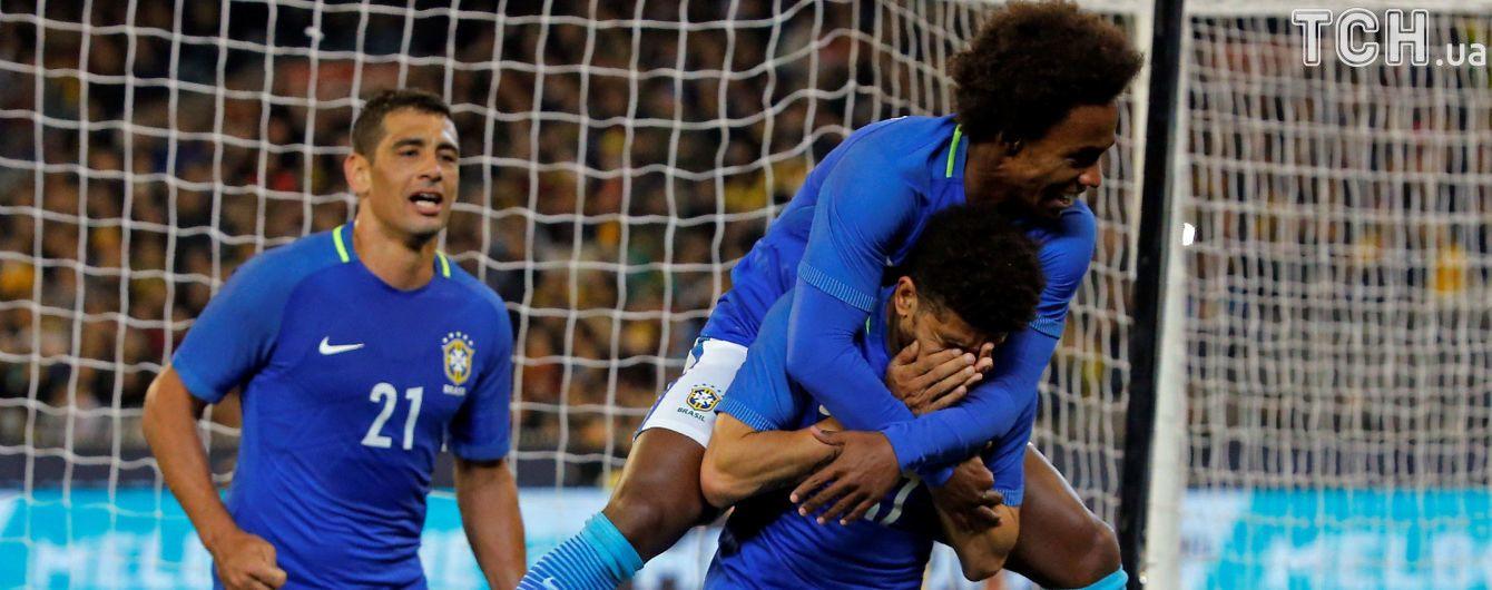 Дебютный гол Тайсона за Бразилию помог команде разгромить Австралию