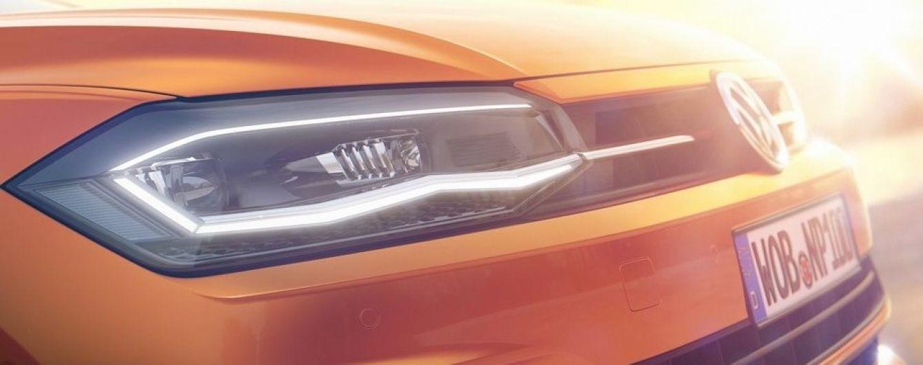Volkswagen показал тизеры нового хэтчбека Polo