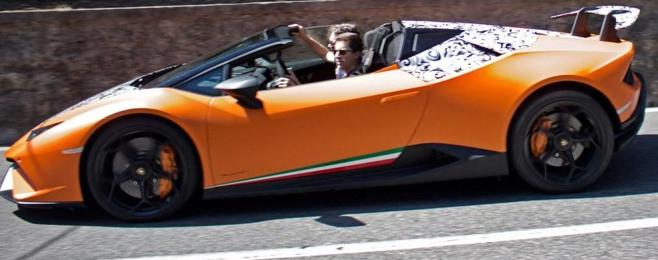 Lamborghini ведет испытания открытого суперкара Huracan Performante