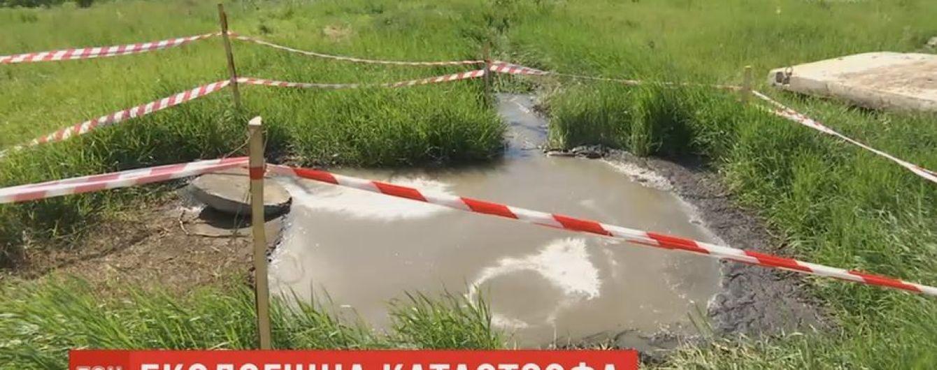 Возле Харькова нечистоты затопили поля и водоемы