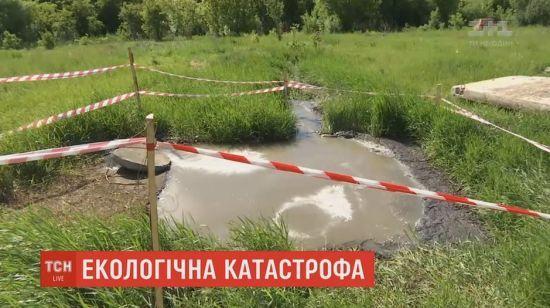 Біля Харкова нечистоти затопили поля і ставки