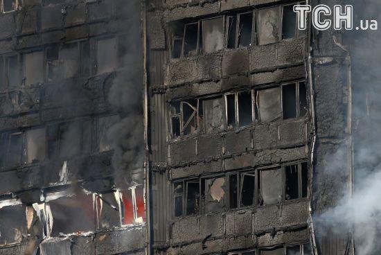 У Лондоні збільшилася кількість постраждалих внаслідок пожежі у багатоповерхівці