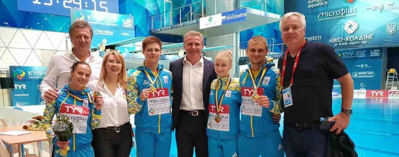 Україна виграла 7 нагород та очолила медальний залік чемпіонату Європи зі стрибків у воду