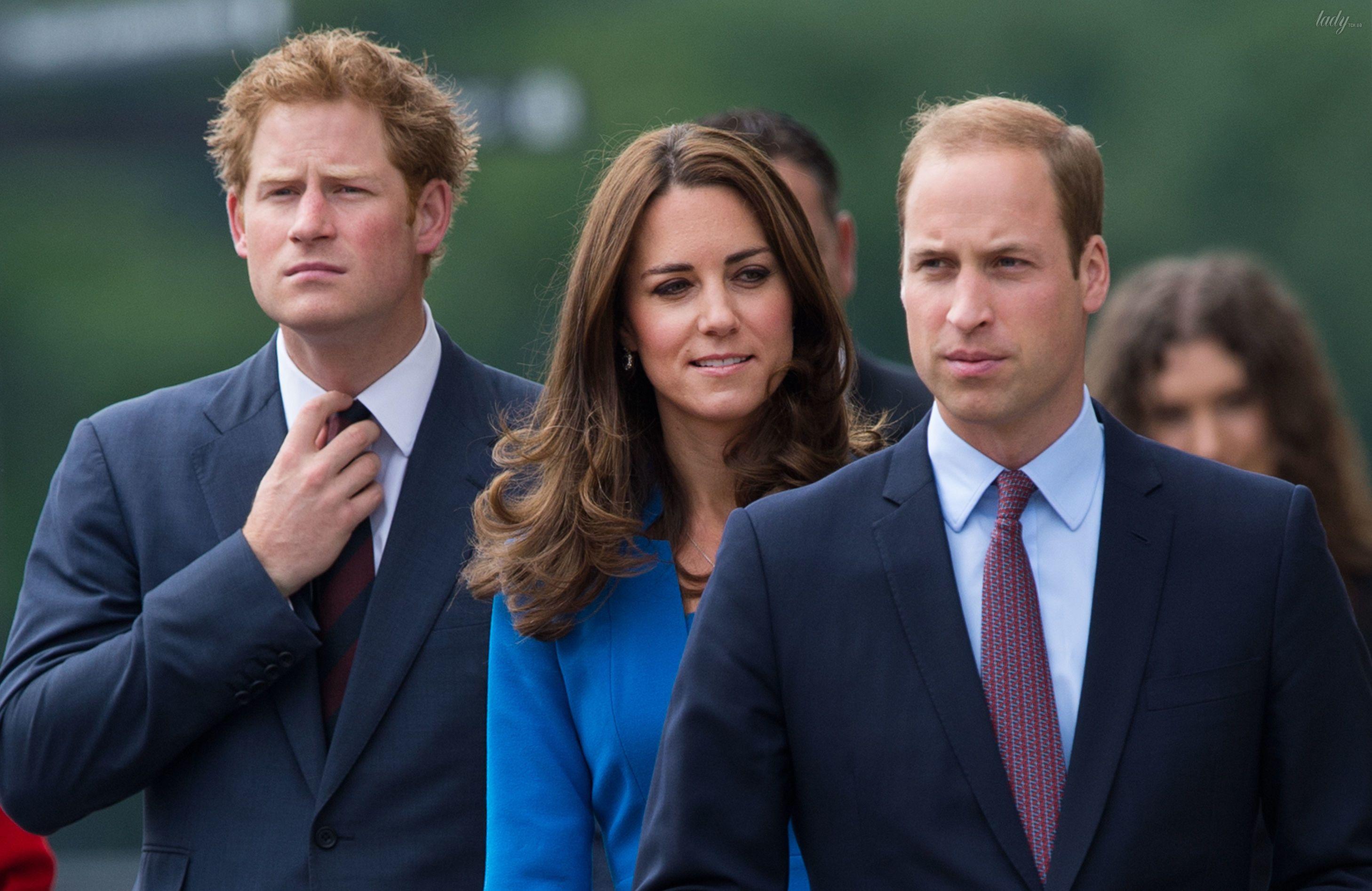ПРинц Уильям, принц Гарри и герцогиня Кэтри