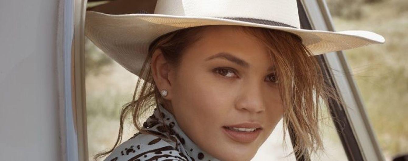 В мехах и ковбойской шляпе: яркая фотосессия с Крисси Тейген