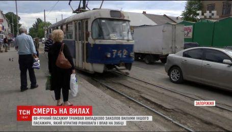 В Запорожье пассажира трамвая заколол вилами 88-летний дед