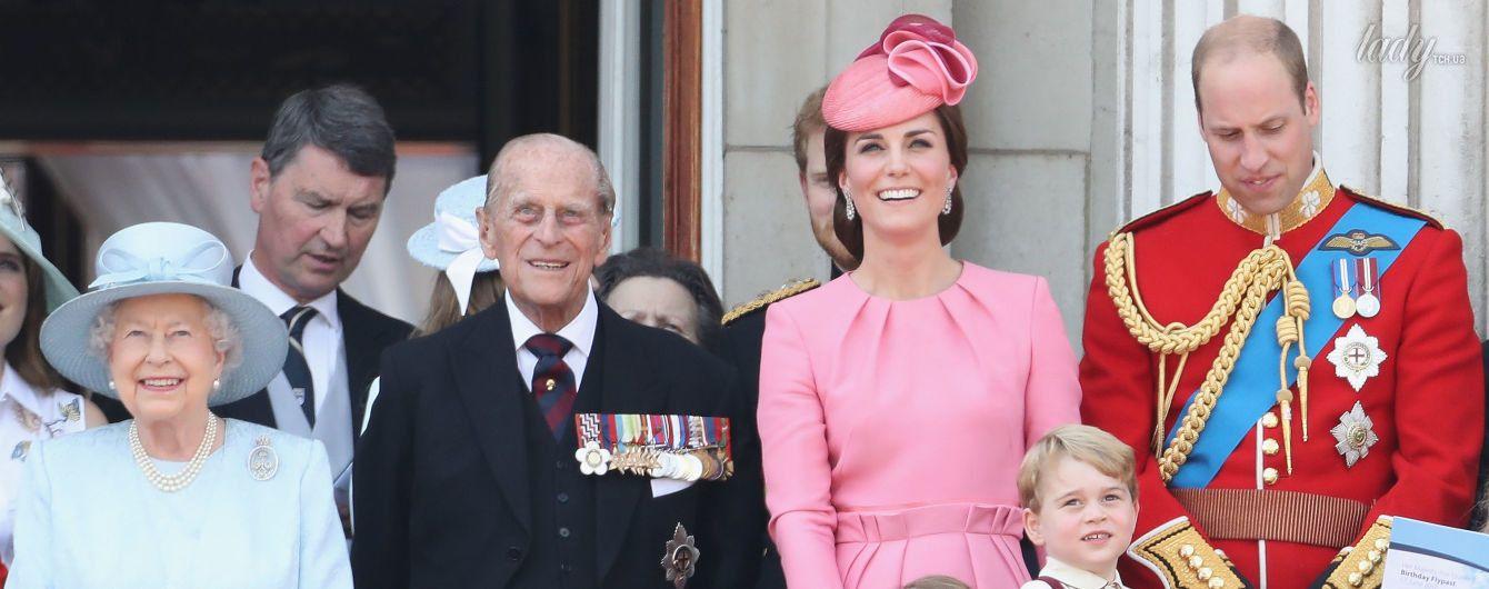 Британские монархи на праздновании дня рождения королевы Елизаветы II