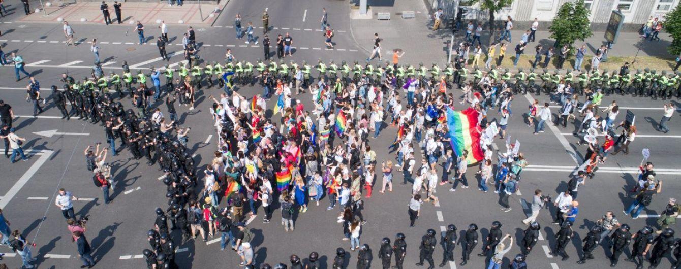 Поліція затримала одного з чоловіків, які атакували учасників Маршу і бризкали їм в очі балончиком