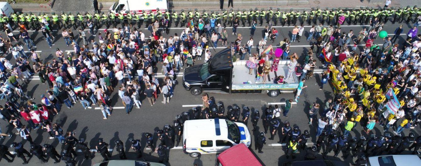 """Під час """"Маршу рівності"""" у Києві постраждали двоє поліцейських"""