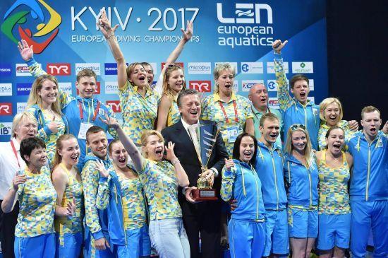 Збірна Україна виграла командний залік чемпіонату Європи зі стрибків у воду