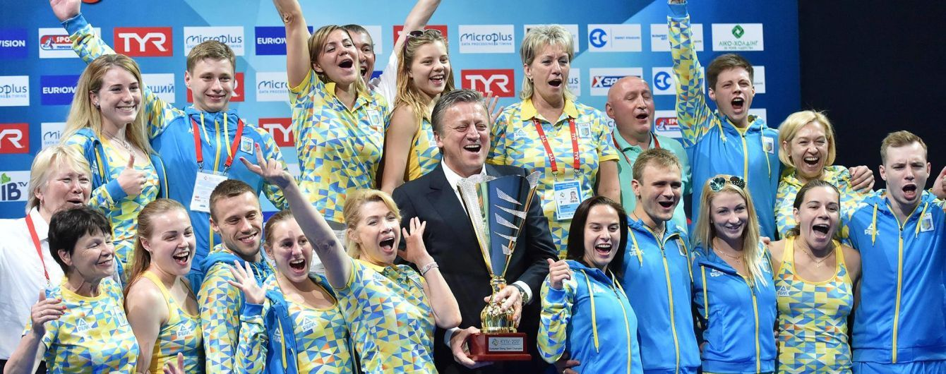 Сборная украины выиграла командный зачет чемпионата Европы по прыжкам в воду