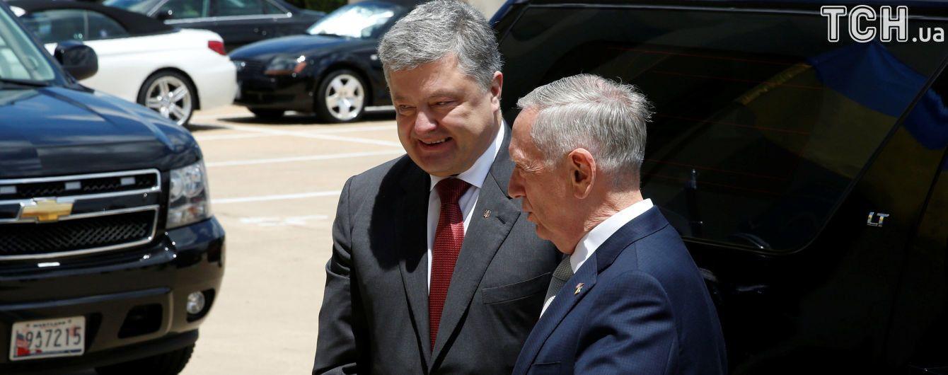 После встречи с Трампом Порошенко отправился в Пентагон и к госсекретарю Тиллерсону