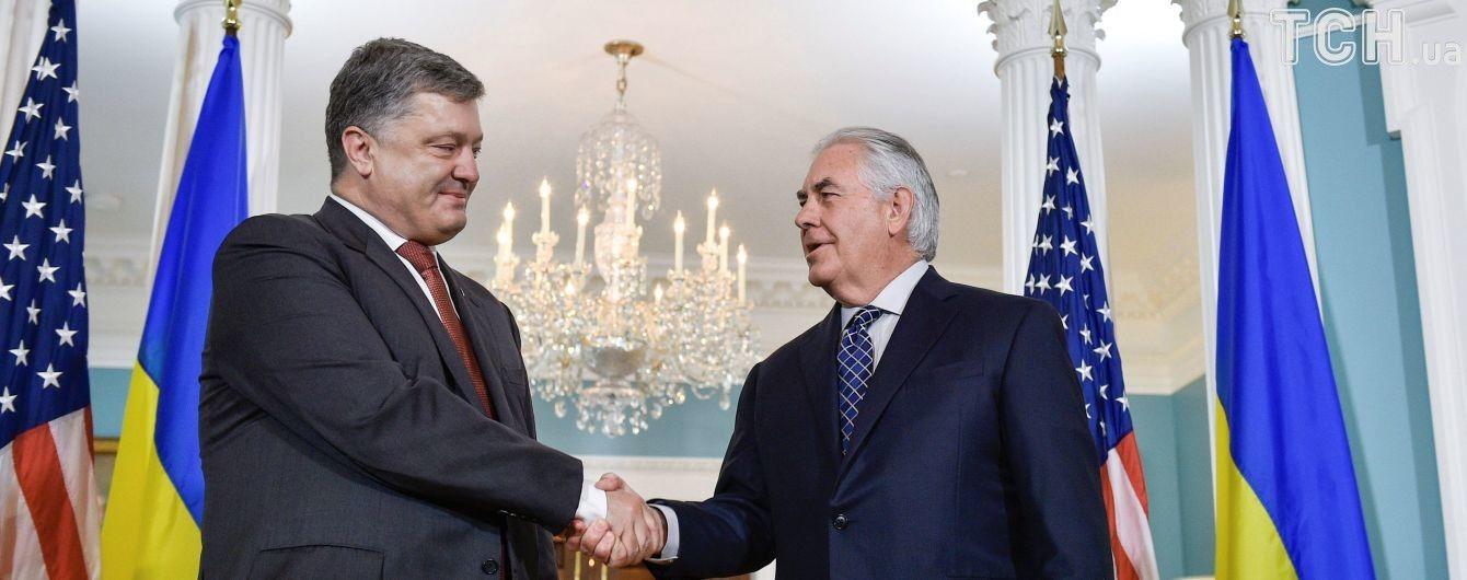 Надання зброї і санкції проти Росії: стало відомо, про що говорили Тіллерсон і Порошенко