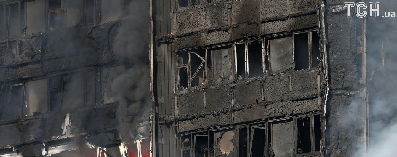 В Лондоне увеличилось количество пострадавших в результате пожара в многоэтажке