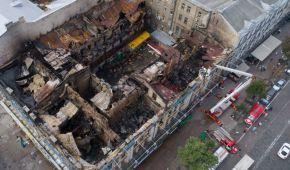 Як виглядає історична будівля на Хрещатику після руйнівної пожежі. Дивіться фото та відео