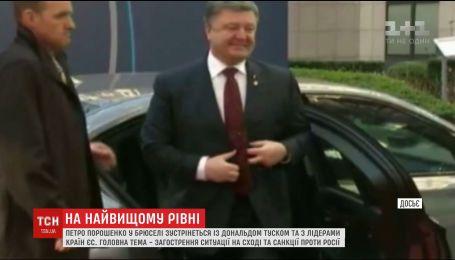 Порошенко обговорить загострення ситуації на Донбасі з головою Європейської Ради