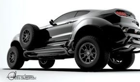 Дизайнер построил для арабского шейха внедорожный Ford Mustang