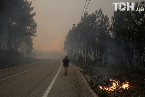 В охваченной адским огнем Португалии разбился пожарный самолет