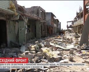 Доба в АТО: 29 обстрілів та 2 поранених українських воїнів