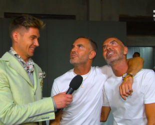 Модный Милан: ведущий Евровидения стал светским репортером на неделе мужской моды