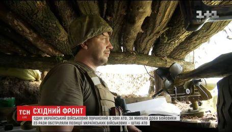 Штаб АТО повідомив про 23 обстріли на сході України