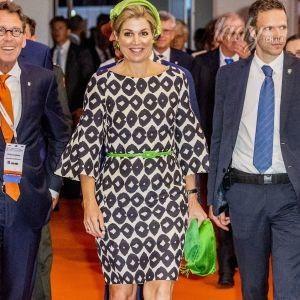 В пестром платье и с яркими аксессуарами: новый выход королевы Максимы