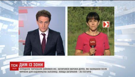 Поблизу Чорнобиля загорілись 25 гектарів лісу