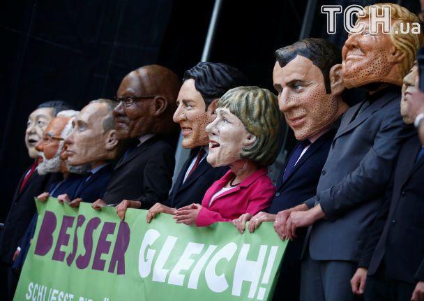 ВГамбурге впреддверии саммита G20 состоялась 10-тысячная акция протеста