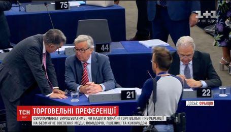 Європарламент вирішуватиме, чи надати Україні торгівельні преференції