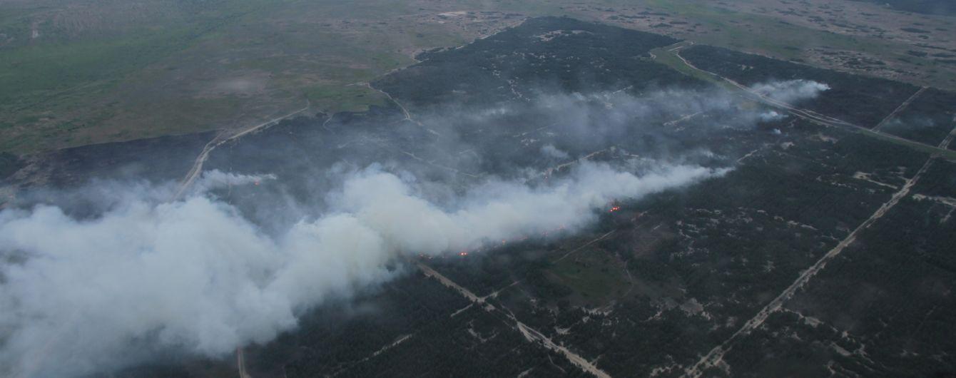 Масштабный лесной пожар на Херсонщине помог укротить дождь