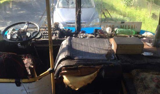 На Закарпатті під час руху загорівся автобус з 67 пасажирами