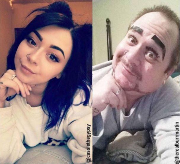 Батько, який кумедно відтворює зухвалі фото доньки, удвічі обігнав її за кількістю підписників