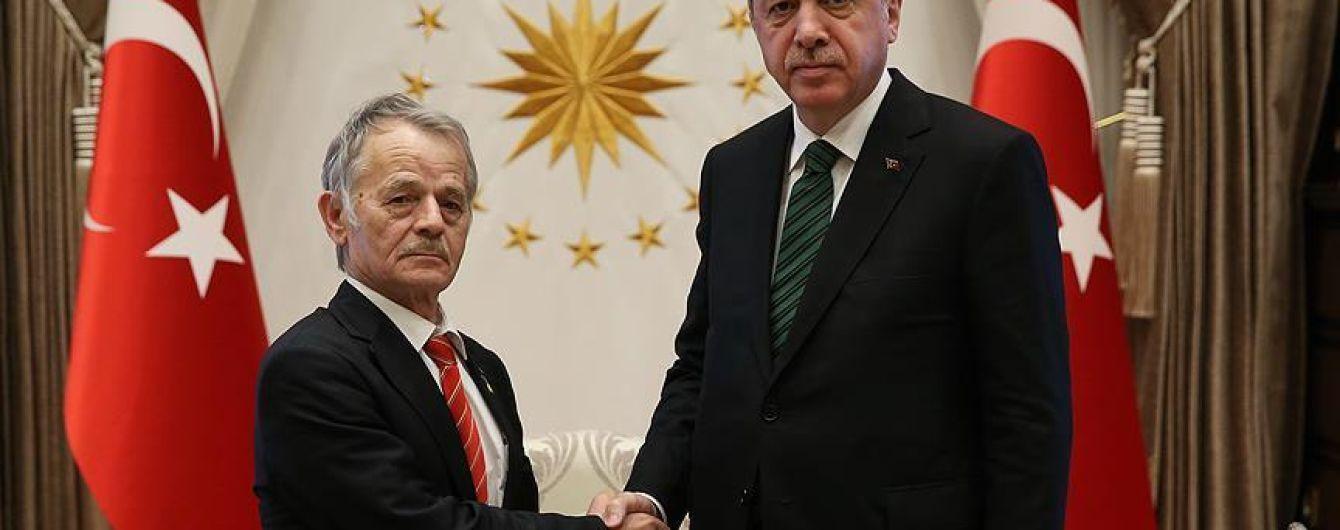 За закрытыми дверьми: Эрдоган встретился с лидером крымско-татарского народа