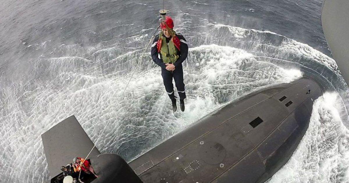 Макрон спустился на атомную подводную лодку. @ twitter/Emmanuel Macron