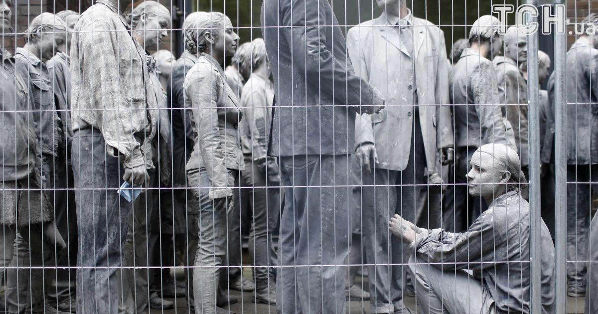 Немецкий протест в Гамбурге.