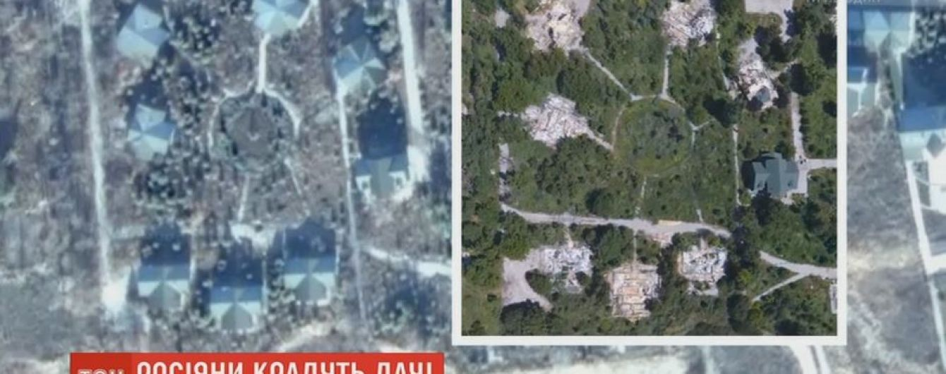 На лінії розмежування окупанти розбирають елітні дачні будинки і вивозять до Росії
