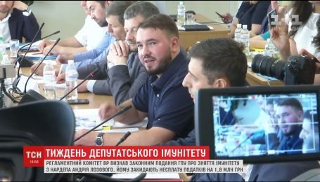 Регламентный комитет признал законным представление Луценко на снятие иммунитета с нардепа Лозового