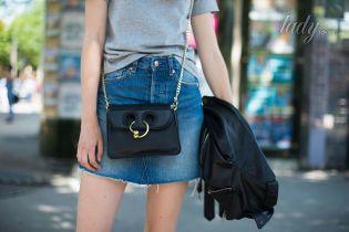 Как носить джинсовую юбку