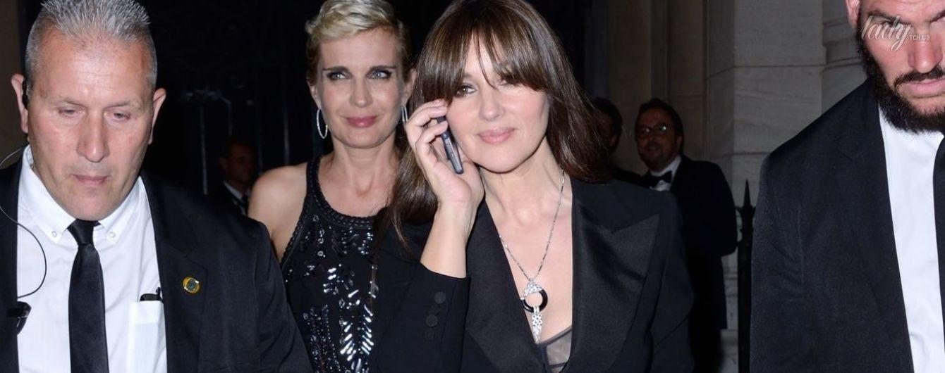 Скромно, но элегантно: Моника Беллуччи посетила вечеринку журнала Vogue