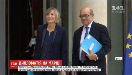 Французский и российский министры иностранных дел обсудят ситуацию в Украине