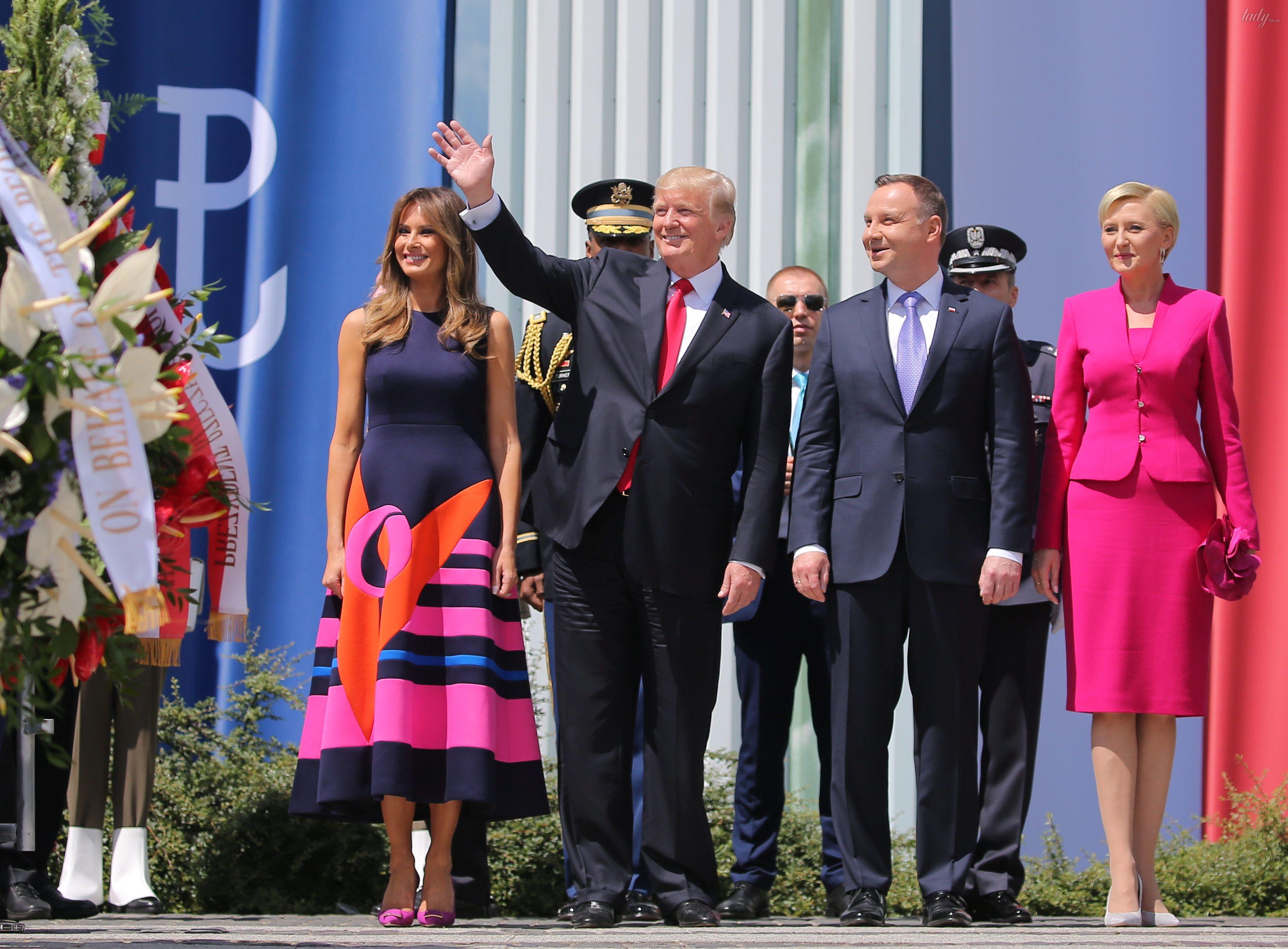Мелания Трамп и Агата Корнхаузер-Дуда_2