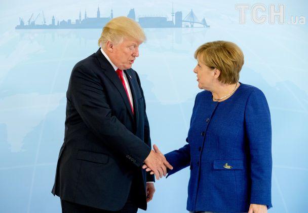Украина и КНДР: о чем говорили Меркель и Трамп перед началом G20