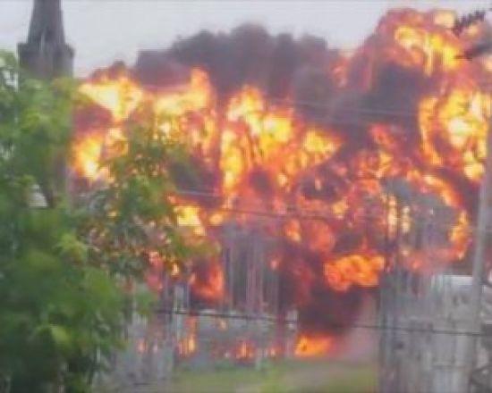 У російському місті потужний вибух на електростанції залишив без світла 150 тисяч мешканців
